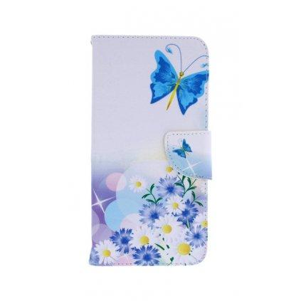 Flipové puzdro na Xiaomi Redmi Note 5 Biele s motýlikom