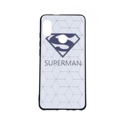 Zadný 3D silikónový kryt na Xiaomi Redmi Note 5 Biely Superman