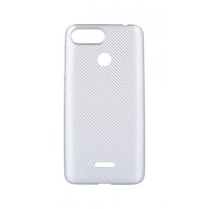 Zadný silikónový kryt na Xiaomi Redmi 6 Carbon strieborný