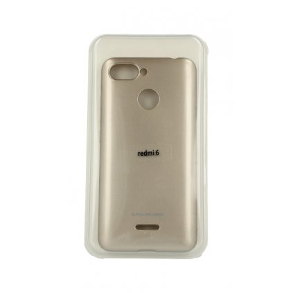 Zadný silikónový kryt Molan Cano Jelly na Xiaomi Redmi 6A zlatý
