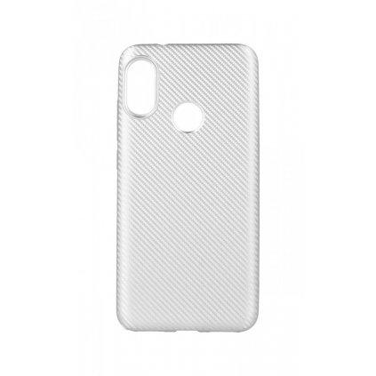 Zadný silikónový kryt na Xiaomi Mi A2 Lite Carbon strieborný