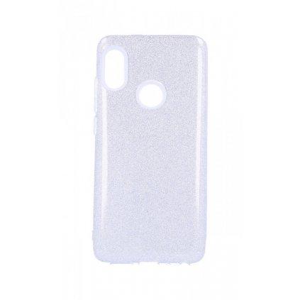 Zadný pevný kryt Forcell na Xiaomi Redmi Note 5 glitter strieborný