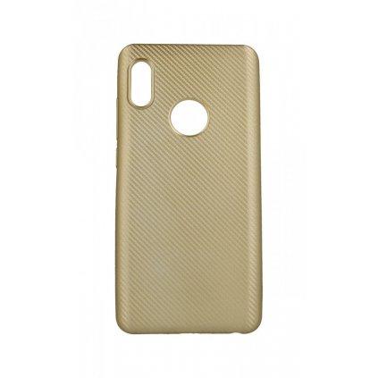 Zadný silikónový kryt na Xiaomi Redmi Note 5 Carbon zlatý