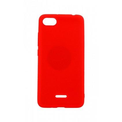 Zadný silikónový kryt na Xiaomi Redmi 6A Soft Magnet červený