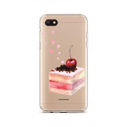 Zadný silikónový kryt na Xiaomi Redmi 6A Cherry Cake