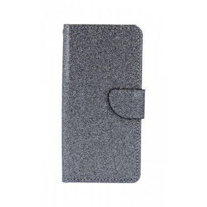 Flipové puzdro na Xiaomi Redmi 6A glitter šedej