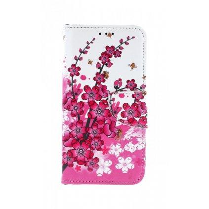 Flipové puzdro na Xiaomi Mi A2 Lite kvety textil