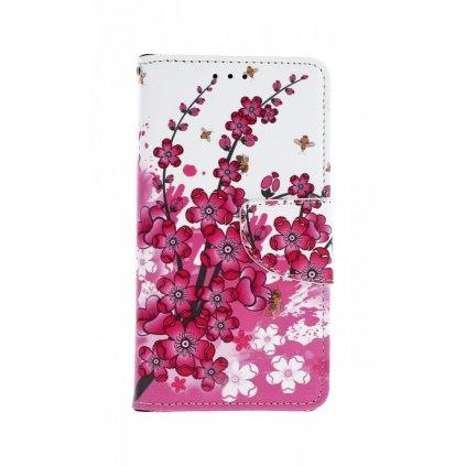 Flipové puzdro na Xiaomi Redmi 6A kvety textil