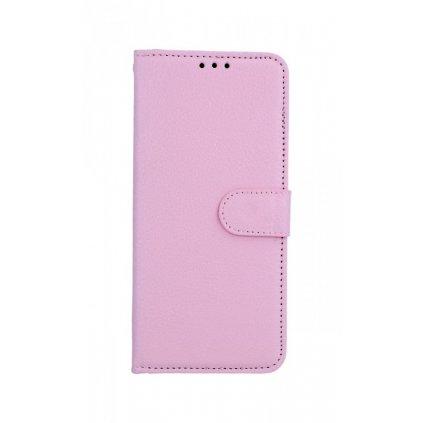 Flipové puzdro na Xiaomi Redmi Note 7 svetlo ružové s prackou
