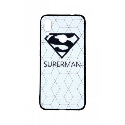 Zadný 3D silikónový kryt na Xiaomi Redmi Note 7 Biely Superman