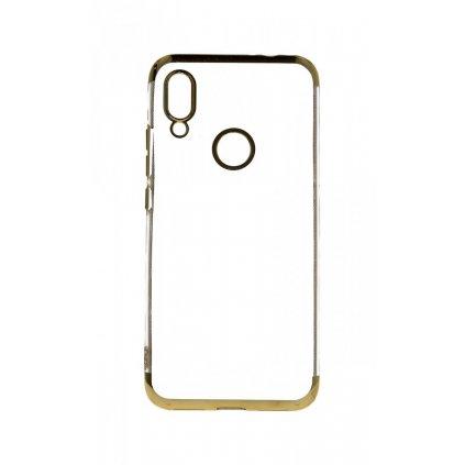 Zadný silikónový kryt na Xiaomi Redmi 7 Frame zlatý