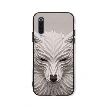Zadný pevný kryt LUXURY na Xiaomi Mi 9 Biely vlk