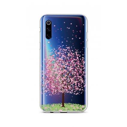 Zadný silikónový kryt na Xiaomi Mi 9 Blossom Tree