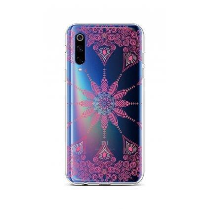 Zadný silikónový kryt na Xiaomi Mi 9 Pink Mandala
