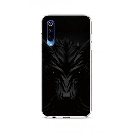Zadný silikónový kryt na Xiaomi Mi 9 Čierny vlk