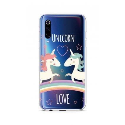 Zadný silikónový kryt na Xiaomi Mi 9 Unicorn Love