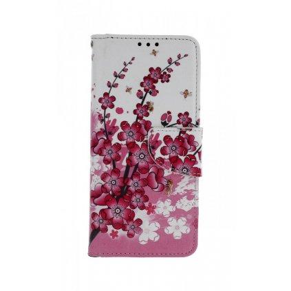 Flipové puzdro na Xiaomi Mi 9 Kvety textil