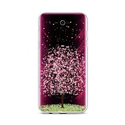 Zadný silikónový kryt na Xiaomi Mi 9T Blossom Tree