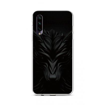 Zadný silikónový kryt na Xiaomi Mi A3 Čierny vlk