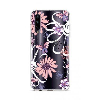 Zadný silikónový kryt na Xiaomi Mi A3 Flowers