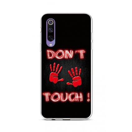 Zadný silikónový kryt na Xiaomi Mi 9 SE Dont Touch Red
