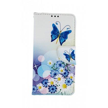 Flipové puzdro na Xiaomi Mi A3 Biele s motýlikom