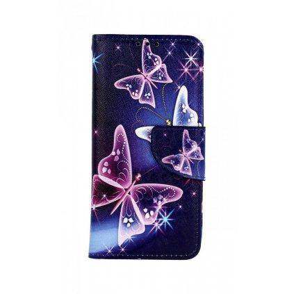Flipové puzdro na Xiaomi Mi 9 SE Modré s motýlikmi