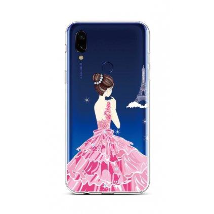 Zadný silikónový kryt na Xiaomi Redmi Note 7 Pink Princess
