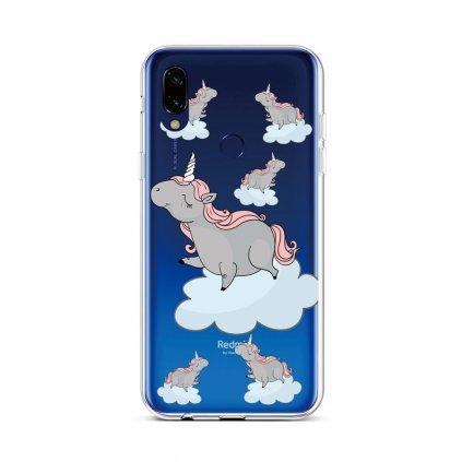 Zadný silikónový kryt na Xiaomi Redmi Note 7 Grey Unicorns