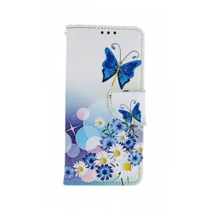 Flipové puzdro na Xiaomi Redmi Note 8 Biele s motýlikom