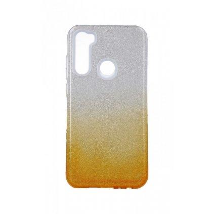 Zadný pevný kryt Forcell na Xiaomi Redmi Note 8 glitter strieborno-oranžový