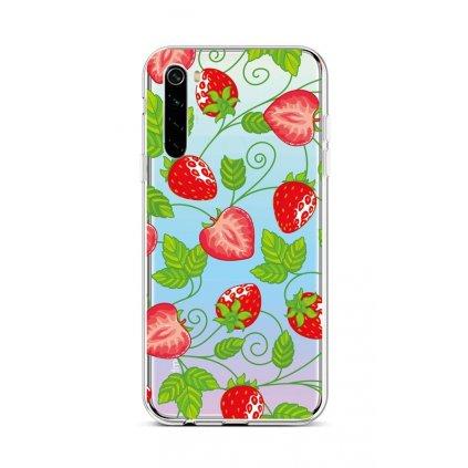 Zadný silikónový kryt na Xiaomi Redmi Note 8 Strawberries