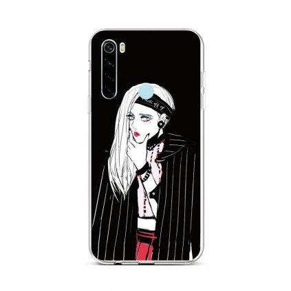 Zadný silikónový kryt na Xiaomi Redmi Note 8 Dark Girl
