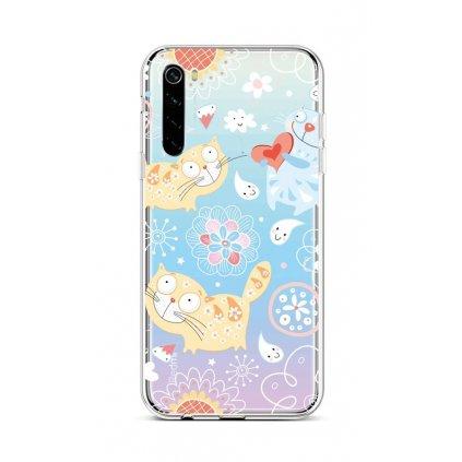 Zadný silikónový kryt na Xiaomi Redmi Note 8 Happy Cats