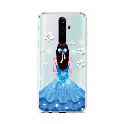 Zadný silikónový kryt na Xiaomi Redmi Note 8 Pro Blue Princess