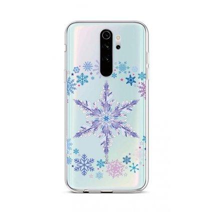Zadný silikónový kryt na Xiaomi Redmi Note 8 Pro Snowflake