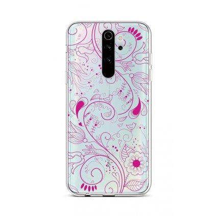 Zadný silikónový kryt na Xiaomi Redmi Note 8 Pro Pink Ornament