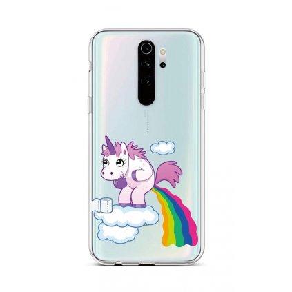Zadný silikónový kryt na Xiaomi Redmi Note 8 Pro Rainbow Disaster
