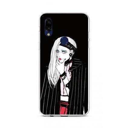 Zadný silikónový kryt na Xiaomi Redmi 7 Dark Girl