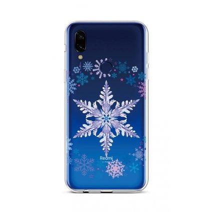 Zadný silikónový kryt na Xiaomi Redmi 7 Snowflake