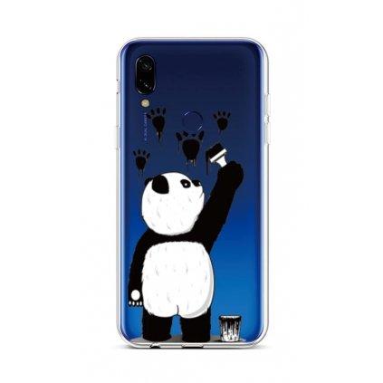 Zadný silikónový kryt na Xiaomi Redmi 7 Rebel Panda