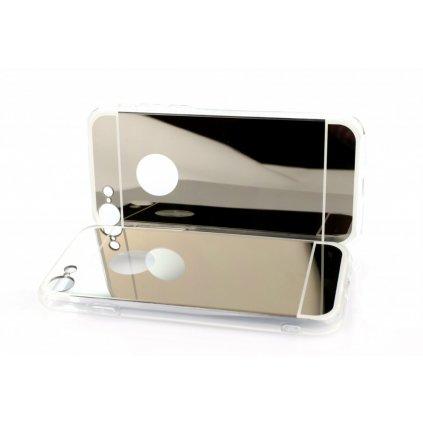 Zadný zrkadlový kryt čiže obal iPhone 7 silikón strieborný