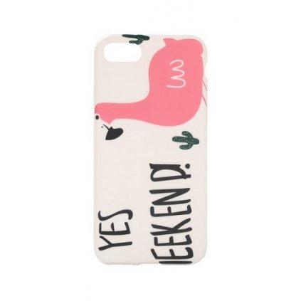 Zadný silikónový kryt na iPhone 7 Flamingo 2