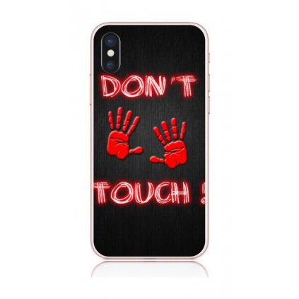 Zadný kryt na iPhone X Dont Touch Red