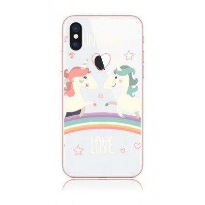 Zadný kryt na iPhone X Unicorn Love