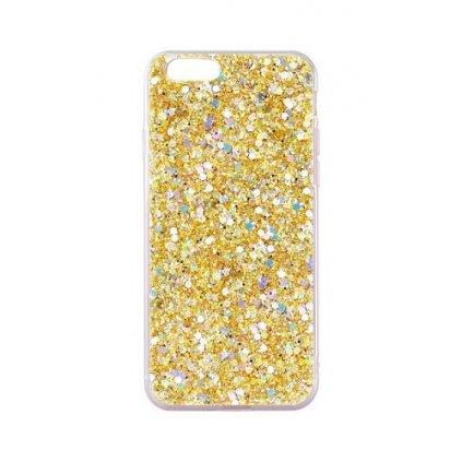 Zadný silikónový kryt na iPhone 7 Shining zlatý
