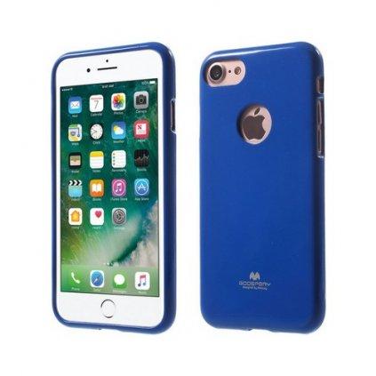 Zadný silikónový kryt Mercury Jelly Case na iPhone 7 modrý