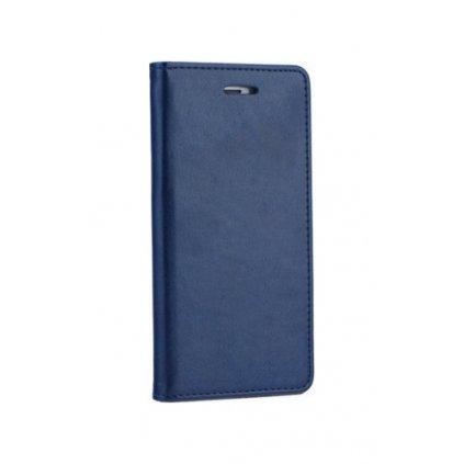 Flipové puzdro Magnet Book na iPhone X tmavo modré