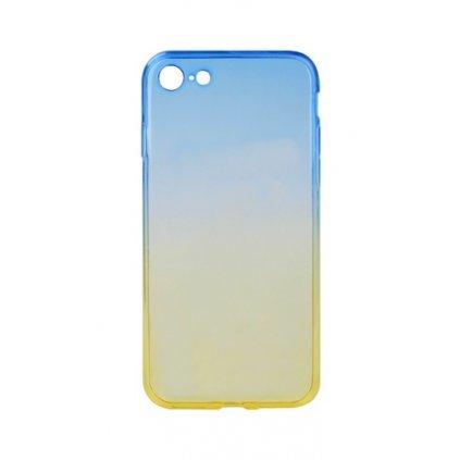 Zadný silikónový kryt Forcell na iPhone 7 dúhový modrý