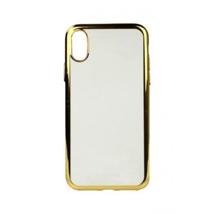 Zadný silikónový kryt Swissten Elektro Jelly na iPhone X zlatý